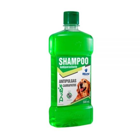 Shampoo Antiparasitário Anti pulgas e carrapatos para Cães Dugs 500ml