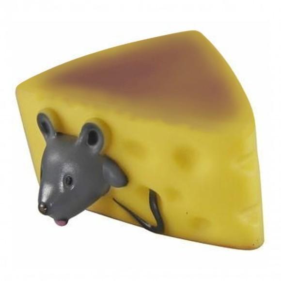 Brinquedo Pet para Cães Mordedor Queijo com Rato