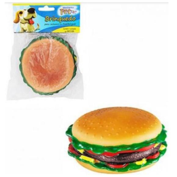 Brinquedo Pet para Cachorros Hambúrguer Grande com Apito Western Pet - 1008