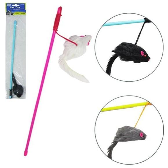 Brinquedo para Gatos Vara com Ratinhos Western Pet 518