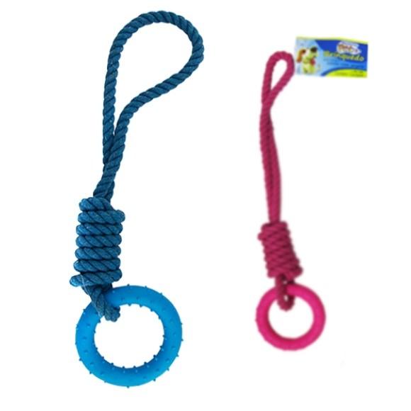 Brinquedo para cachorro corda com argola Western Pet - 440