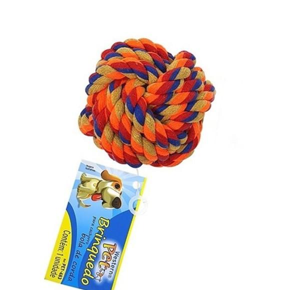 Brinquedo Pet para Cachorro Bola de Corda Western Pet - 483
