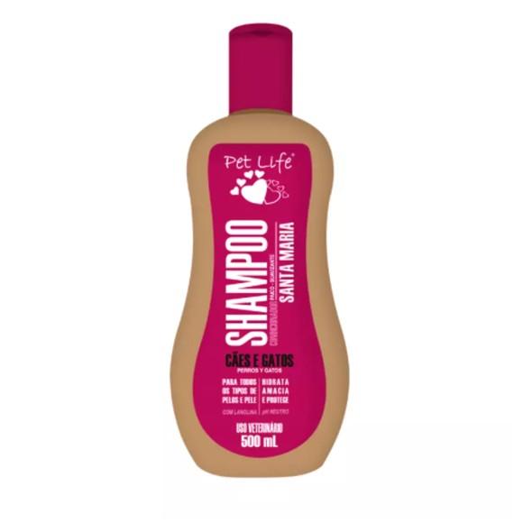 Shampoo Condicionador Pet Anti Pulgas Pet Life 500ml